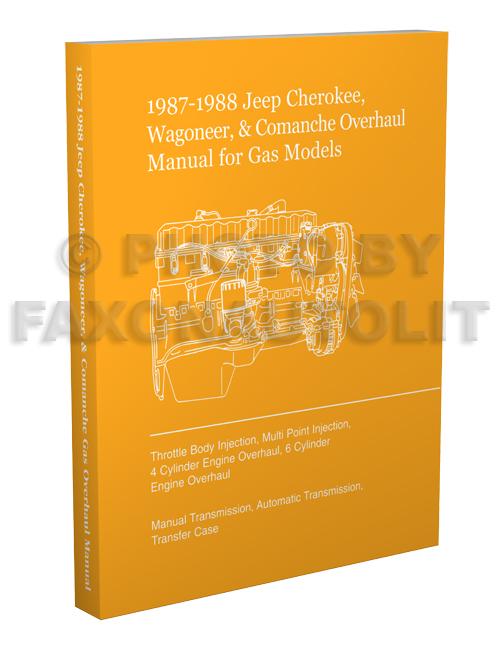 19871988 jeep cherokee wagoneer comanche overhaul manual reprint gas