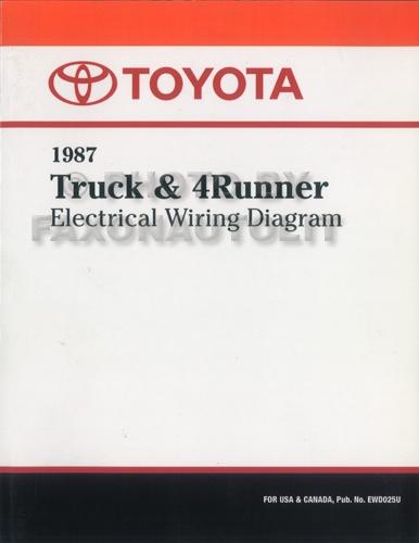 1987 toyota truck  4runner wiring diagram manual factory reprint