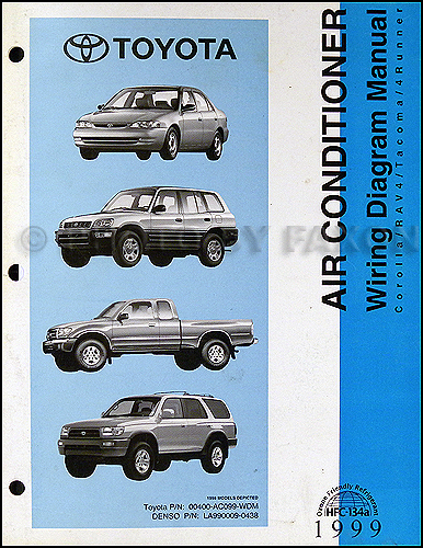 1999 toyota a/c wiring diagram manual original corolla rav4 tacoma 4runner