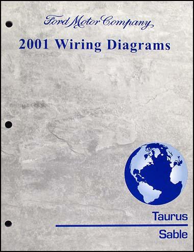 2001 ford taurus  mercury sable wiring diagram manual original