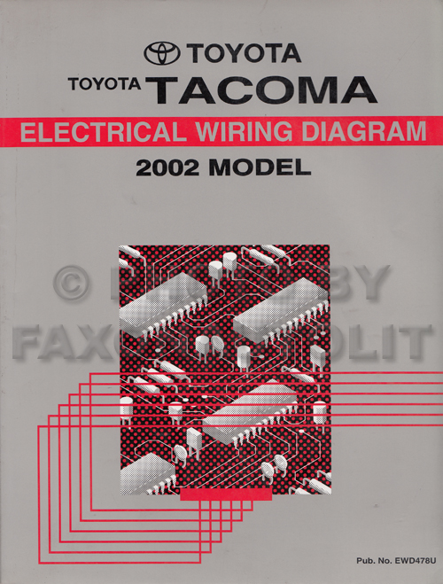 2002 toyota tacoma pickup wiring diagram manual