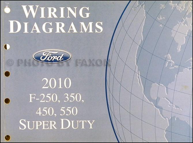 2010 ford f250 thru 550 super duty wiring diagram manual original
