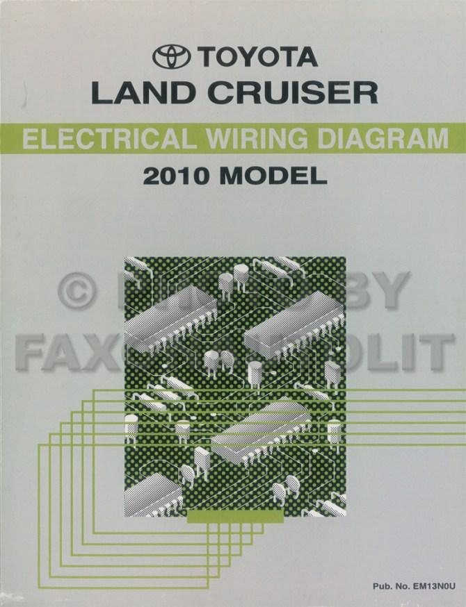 2010 toyota land cruiser wiring diagram manual original