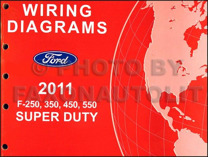 2011 ford f250 thru 550 super duty wiring diagram manual original