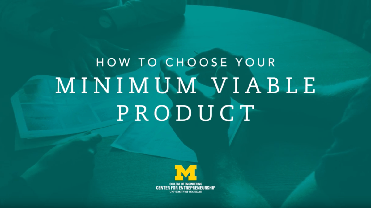 title card for how to choose your minimum viable product