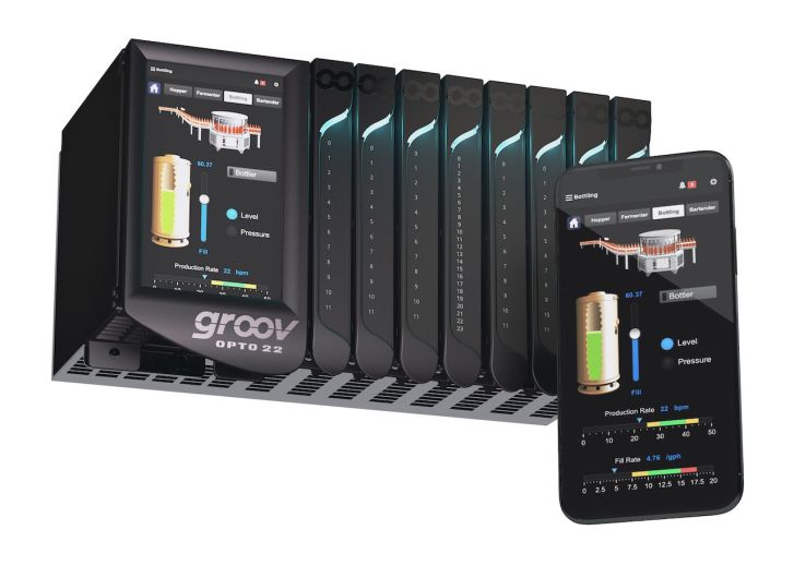 Figure 2: Edge programmable industrial controllers maintain their OT roots while incorporating native IT and mobile technologies. The Opto 22 groov EPIC system combines guaranteed-for-life I/O, real-time control, local and remote HMI, and industrial/IT data exchange in a compact, industrial package. Courtesy: Opto 22