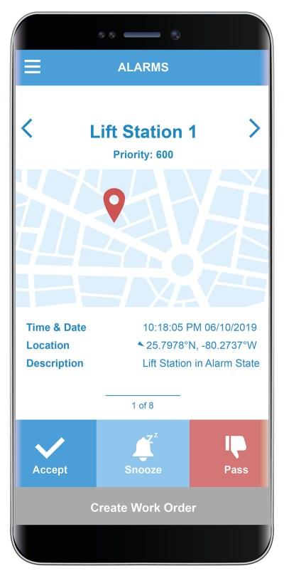 Figure 4: Field service notification via a smartphone. Courtesy of: ICONICS