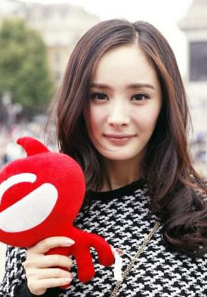 Yang Mi is this week's chosen V-goddess