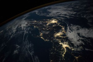Satellite view of Japan at night • Earth.com