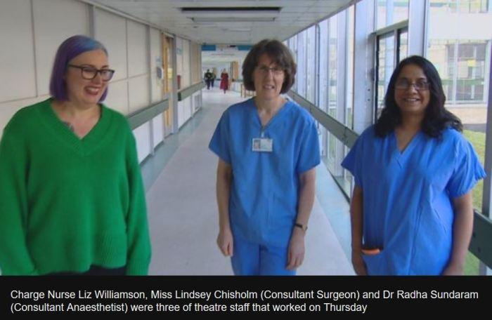 Hero Nurse Hikes through Blizzard BBC