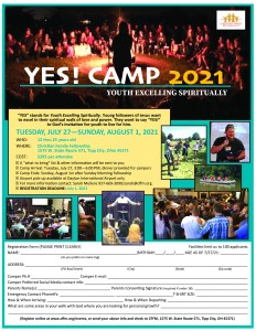 2021 YES Camp Flier