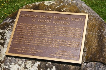 Plaque of the Dunkerron Quaker cemetery.