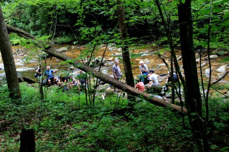 Lunch along the East Fork Pigeon River