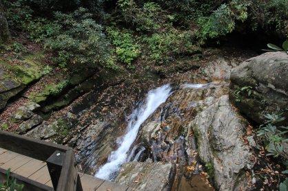 From the bridge at Skinny Dip Falls