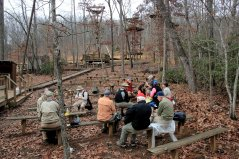 Lunch at the Pleasant Ridge Camp