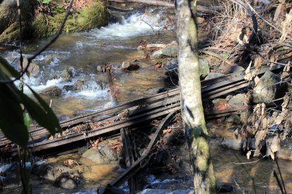 Old rails in the creek