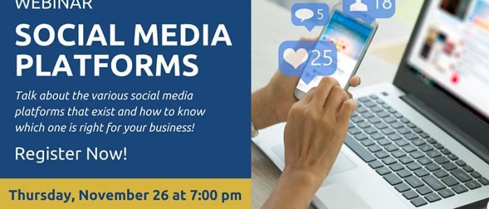 Nov. 26 at 7 pm: Social Media – Platforms