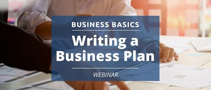 Dec. 2 at 12 pm: Business Basics: Writing a Business Plan