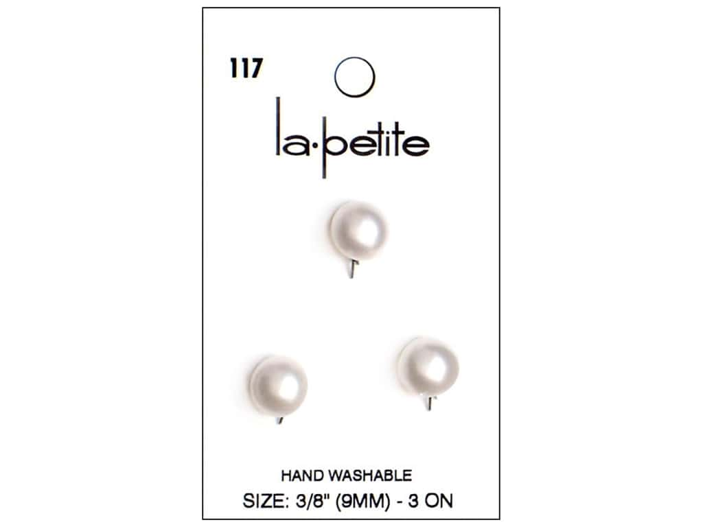 Lapetite Prong Buttons 3 8 In White 117 3pc