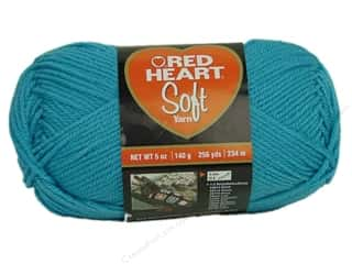 Red Heart Soft Yarn #2515 Turquoise 256 yd.