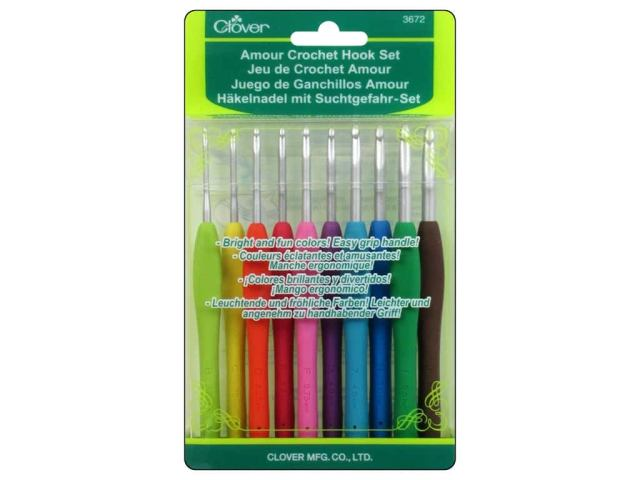 Clover Amour Crochet Hook Set 10 pc.