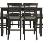 Jgw Counter Height 9 Piece Dining Group Ivan Smith
