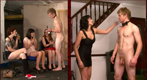 Treated champagne curly housewife and did cunnilingus