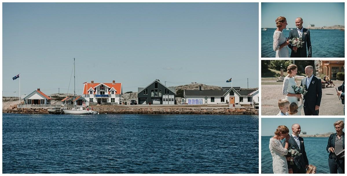 bröllopsfotograf Marstrand vigsel vid havet wedding photographer ceremony by the sea