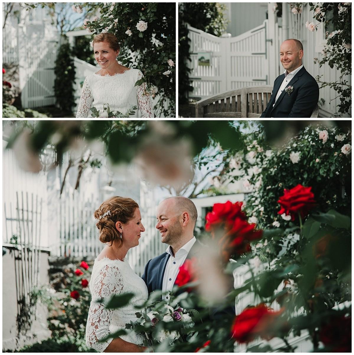 bröllopsfotograf Marstrand porträtt blommor wedding photographer flowers portrait