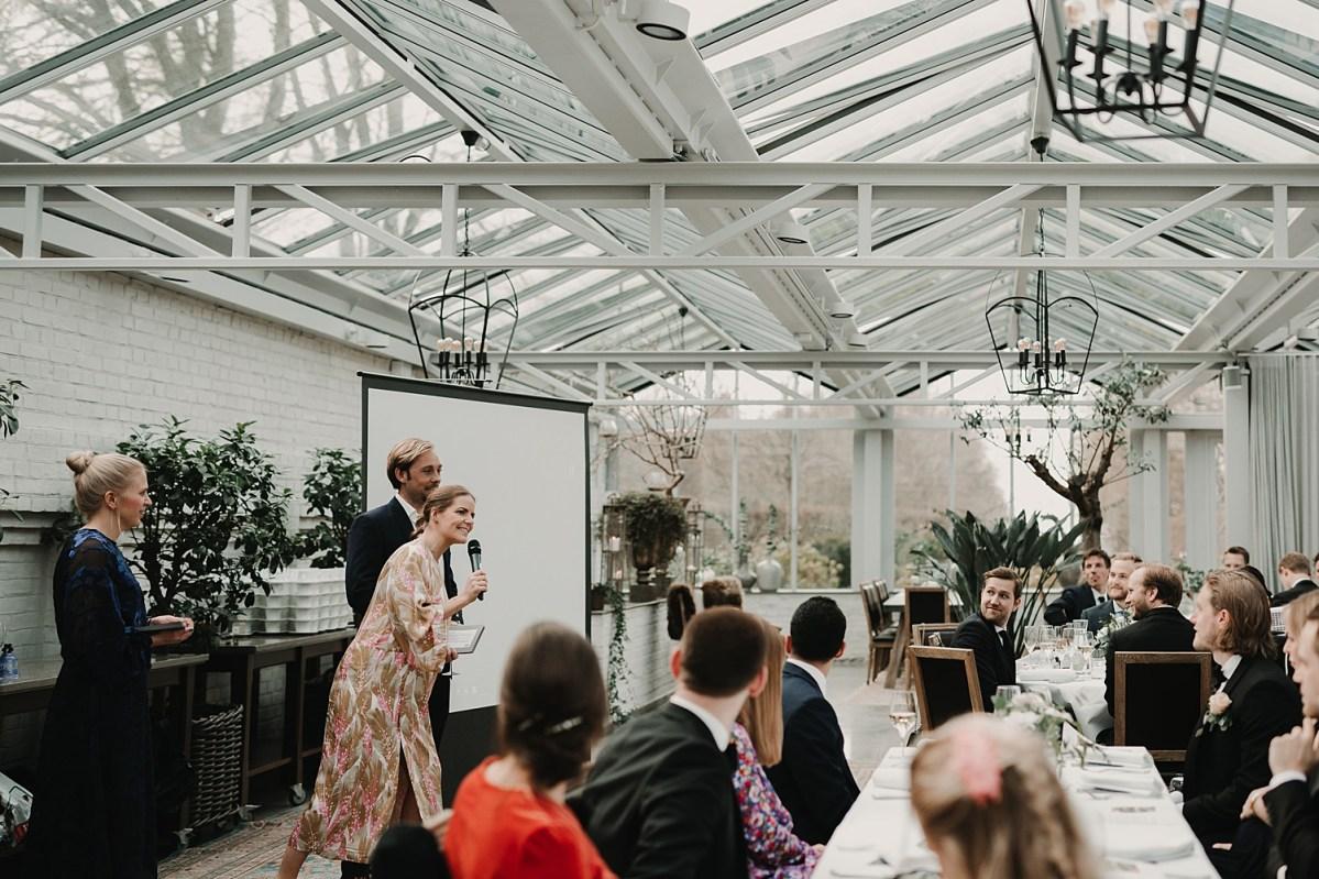 Tal bröllopsfest Båstad Dinner in a glasshouse