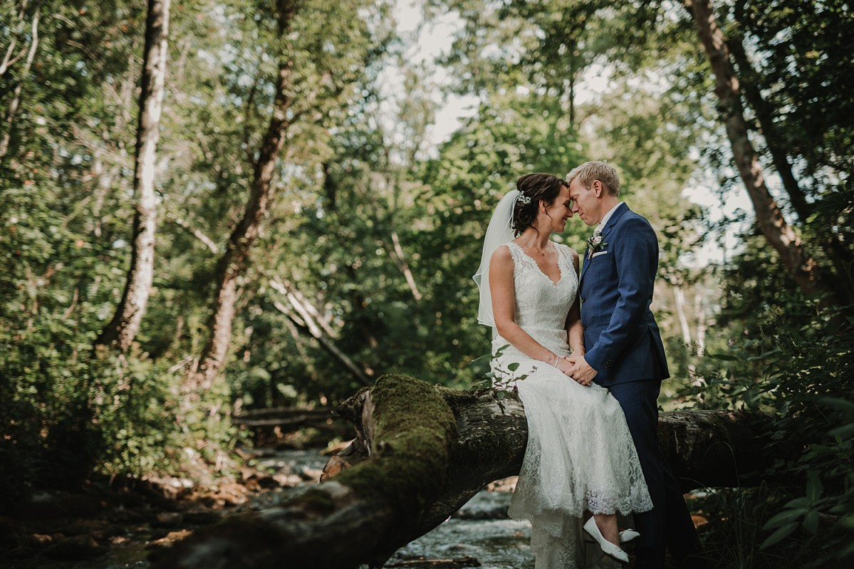 Wedding portraits in the forrest