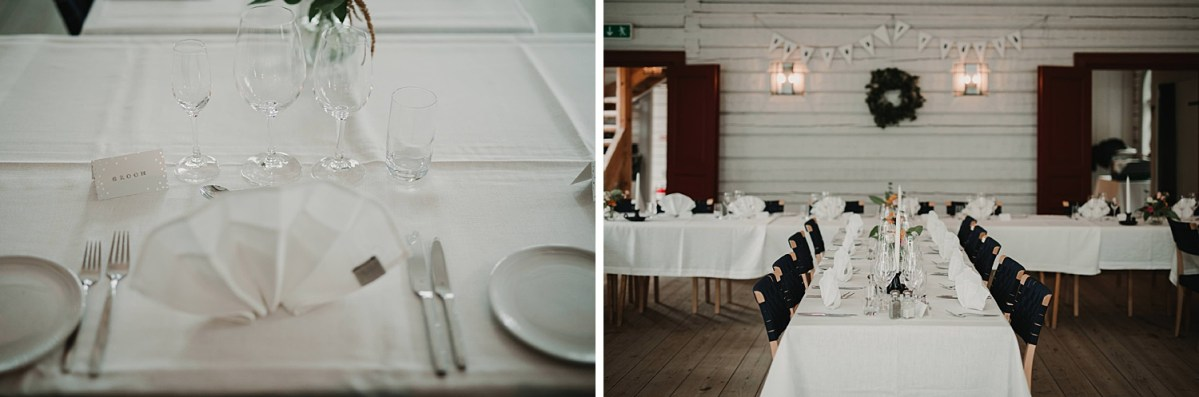 table setting wedding photographer Sweden
