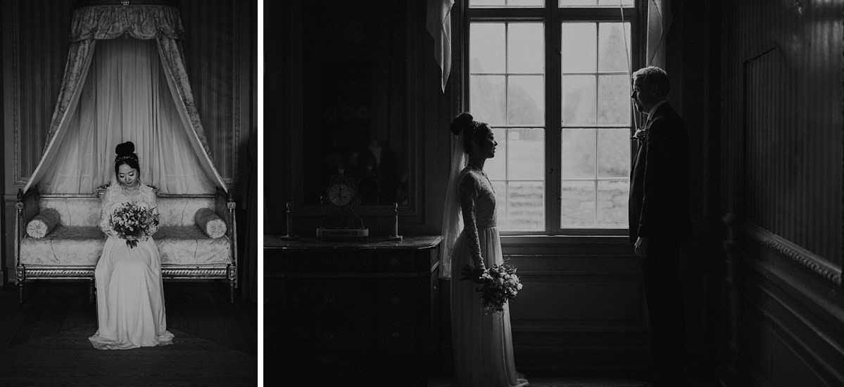 black and white wedding portraits wedding photographer Sweden