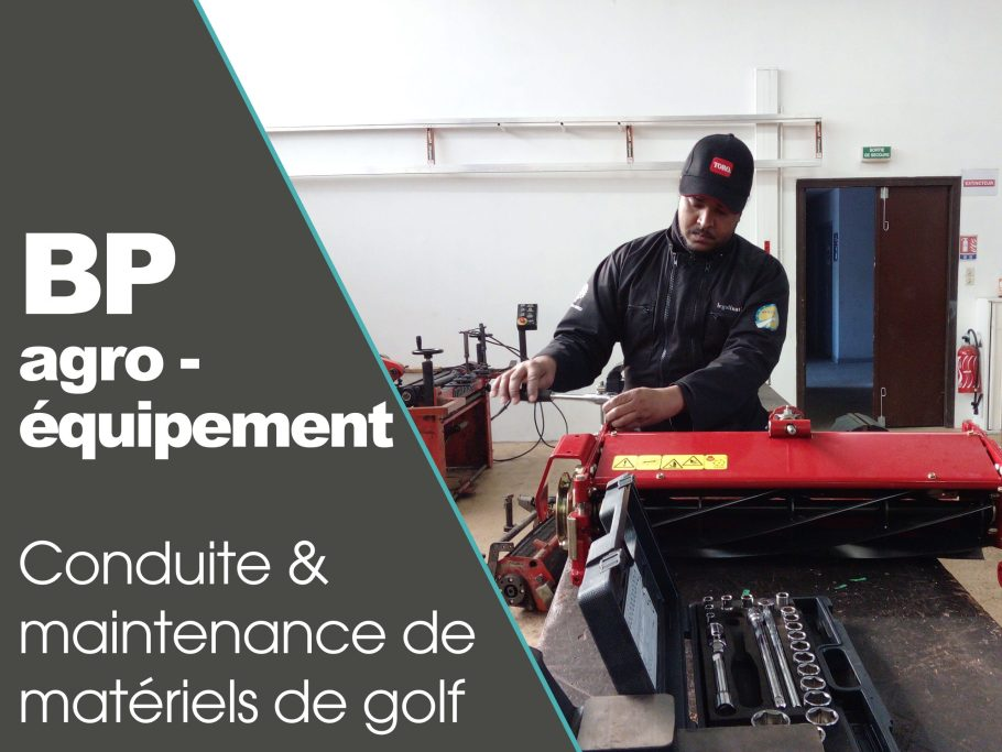 CFPPA formation adulte BP agroequipement golf