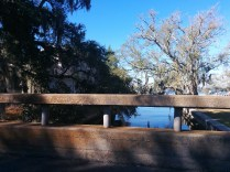 An old bridge along River Road, with views of the St. Johns and mature trees.