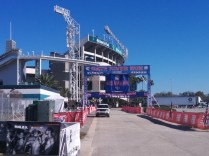 That's the goal! The new Gate River Run finish line, moved to the south side of EverBank Field after stadium construction.