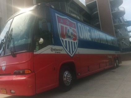 This is the official team bus that will transport the U.S. team.