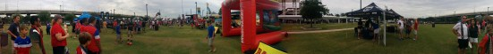 Here's a cool 360-degree panorama of fans gathered in the Fan Zone south of the stadium - three hours before kickoff.