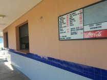 The menu at Buc's Cafe, the official concession stand area at First Coast High School and one of the largest in the county.