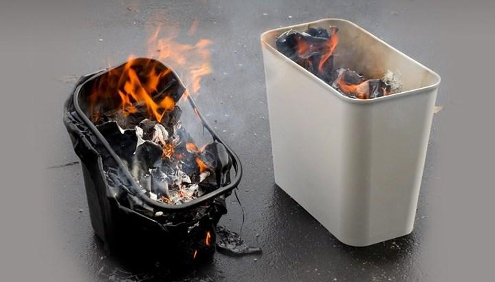 【news解説】複合材料を使った耐熱難燃性ゴミ箱が火災を抑制