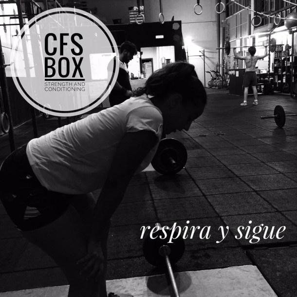 Wod CFS Box Sevilla CrossFit Training respira sigue