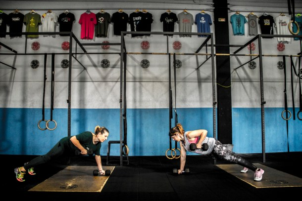 Box CFS Box CrossFit Sevilla Push Up Mancuerna