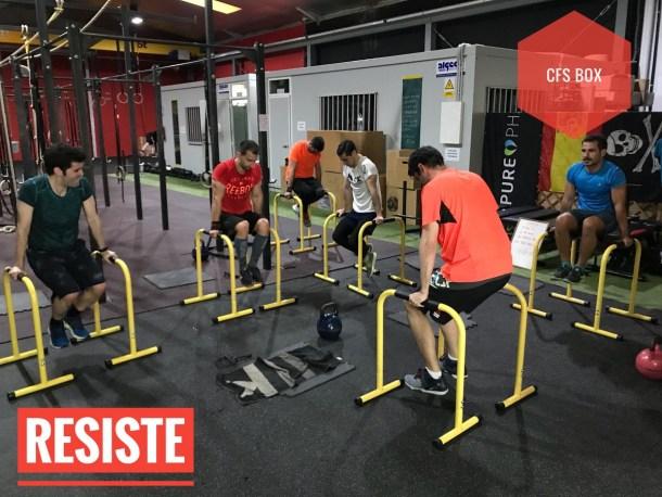 Wod CFS Box CrossFit Sevilla training resiste
