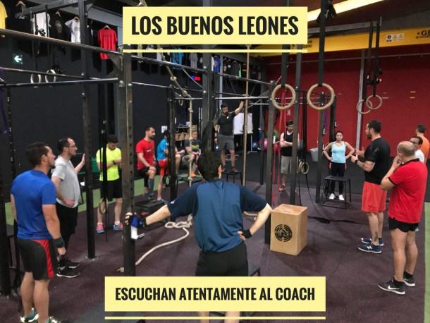 Wod CFS Box CrossFit Sevilla training escucha coach leones