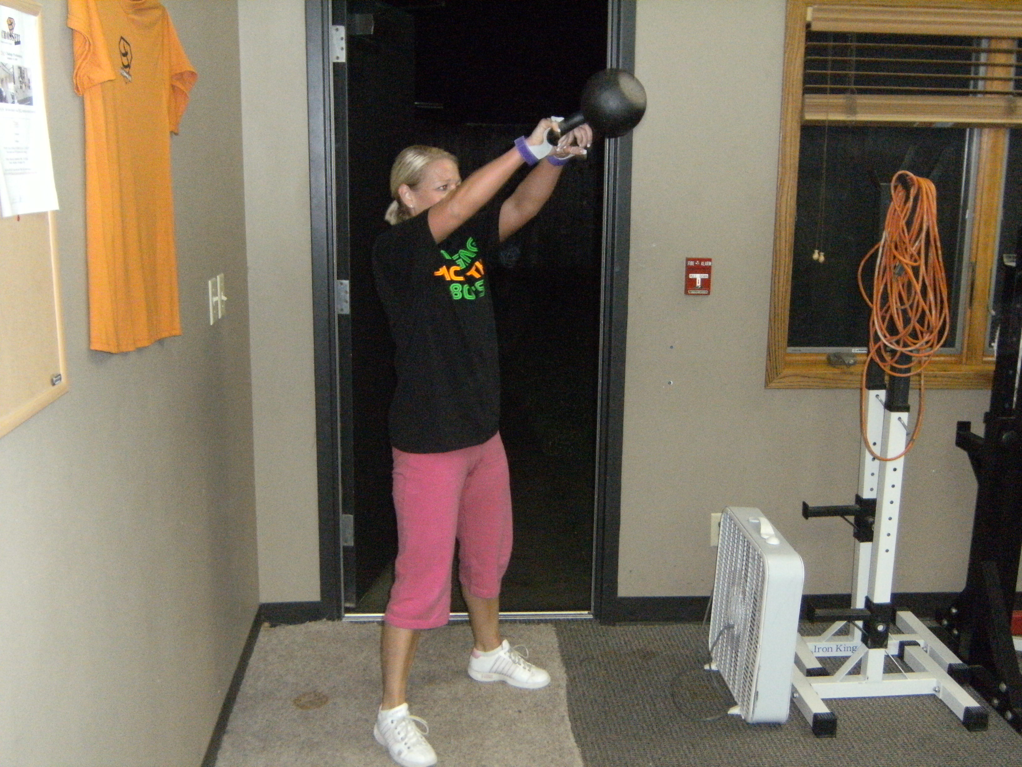 Heidi's getting it done with Kettlebell Swings