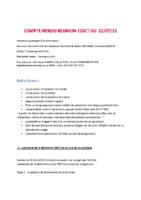 COMPTE RENDU CSSCT JUILLET  2021