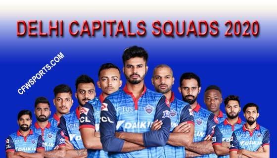 Delhi Capitals Squads 2020