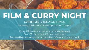 Carnkie Film Club & Curry Night @ Carnkie Village Hall | United Kingdom