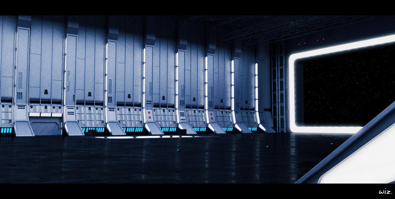 Deathstar Hangar Variant By Wiz Wiz Wiz Sci Fi 3d