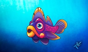 purple fish!